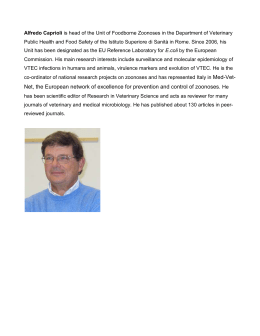 Alfredo Caprioli is head of the Unit of Foodborne Zoonoses