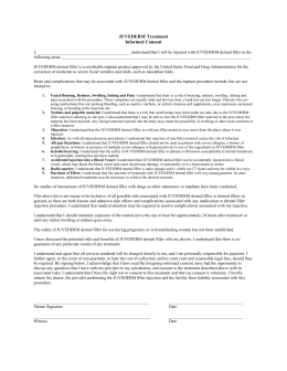 Juvederm Information and Consent Form