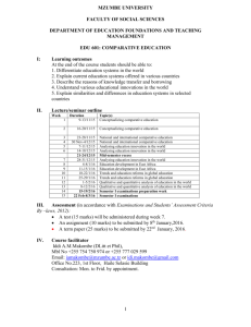 Edu601 lecture outline 2015.2016