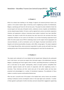 Newsletter Boundless Trauma Care Central Europe (BTCCE)