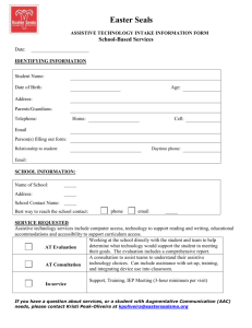 assistive technology intake information form