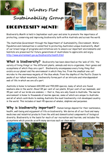 Winters Flat Sustainability Group – Biodiversity