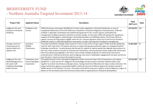 Northern Australia Targeted Investment 2013