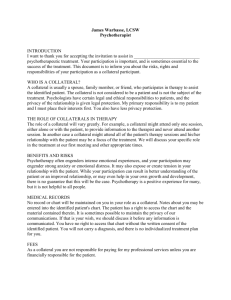 outpatient services agreement for collaterals