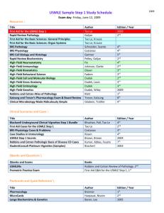 Step 1 Books Survey (Class of 2011)