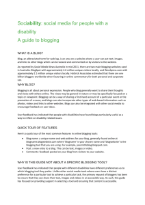 WHAT IS A BLOG? - Media Access Australia