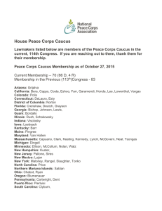 House Peace Corps Caucus Lawmakers listed