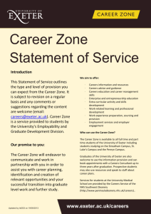 Career Zone Statement of Service