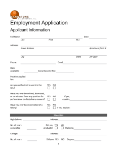 Employment application - Sandstone Diagnostics