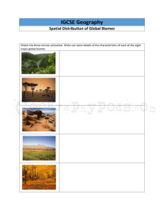 Spatial Distribution of Biomes