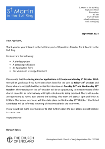 Covering-letter - St Martin in the Bull Ring