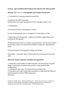 Ethnography and Complex Interventions