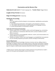LONGWOOD LESSON PLAN-Language Arts