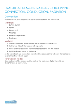 Worksheet 1 - practical demonstrations