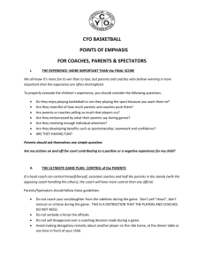 cyo basketball points of emphasis
