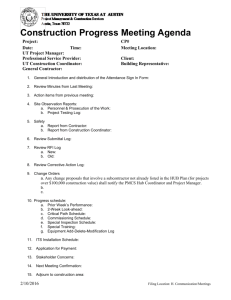 Construction Progress Meeting Agenda