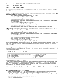 on the employee`s Form W-2 - University of Massachusetts Boston