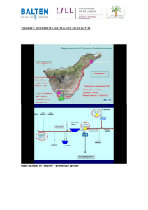 Water re-use system in Tenerife