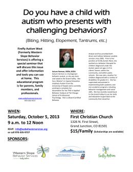 Educational Seminar - Challenging Behaviors