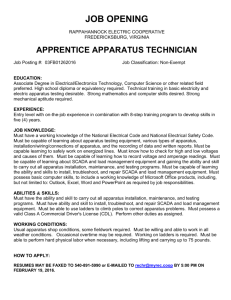 apprentice apparatus technician - Rappahannock Electric Cooperative