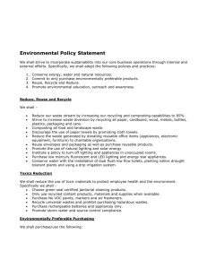 Environmental Policy Template word file