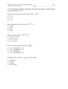 Regents Exam Questions A2.A.39: Domain and Range 2 Page UNIT