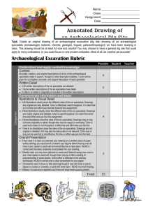 Archaeological Dig Site Rubric