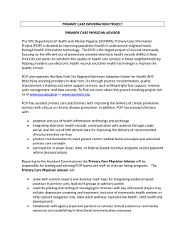 Primary Care Physician Advisor - The Fund for Public Health