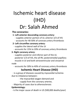 Ischemic Heart Disease (IHD)
