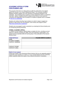 Academic Appeals Form (word document)
