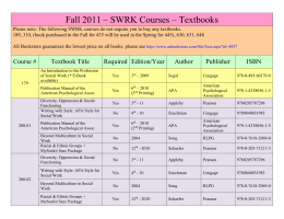 Spring 2016 fall 2011 swrk courses textbooks please note the following fandeluxe Images