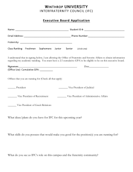 Executive Board Application