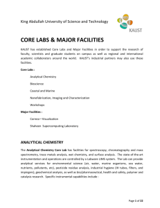 KAUST Core Labs and Major Facilities