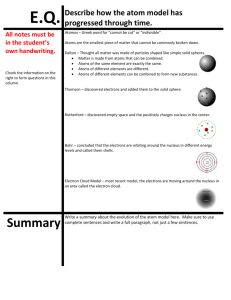 Evolution of the Atom Model