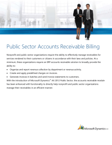 Public Sector - Accounts Receivable Billing