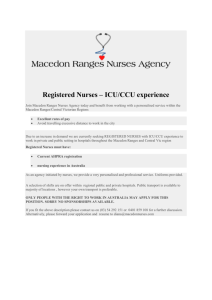 Registered Nurses – ICU/CCU experience