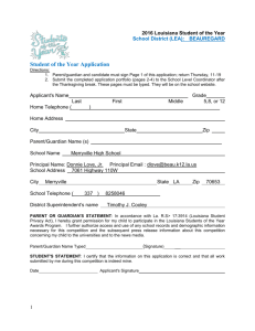 Student of the Year Application