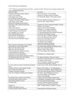Non-fiction and Fiction book list(1)