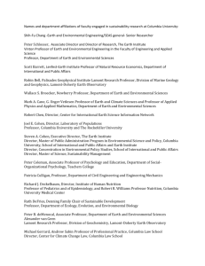 List of Faculty Engaged in Sustainability Research at