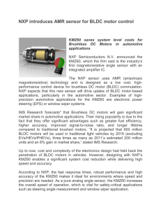 NXP introduces AMR sensor for BLDC motor control