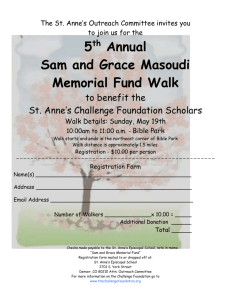 5 th Annual Sam and Grace Masoudi Memorial Fund Walk