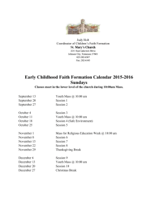 ECFF Calendar 2015-2016 Sunday - St. Mary`s Catholic Church