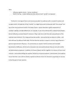 Tim Burton Style Analysis Film Essay Burton Example