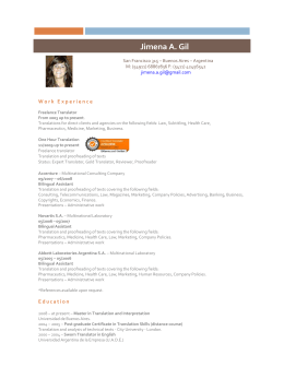 to Full CV of Jimena Gil