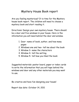 Mystery House Book report