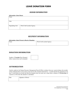 Leave Donation Form ( 16kB)