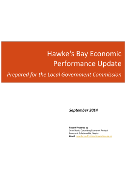 Hawke`s Bay Sean Bevin Economic Solutions Report Sept 2014