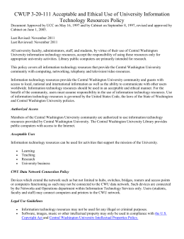 Technology Agreement - Central Washington University