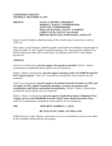 COMMISSION MEETING THURSDAY, DECEMBER 12, 2013