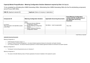 Metering Configuration Solution statement template